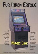 1991 AS SPIELAUTOMATEN MAGIC LINE CABINET GER VIDEO FLYER