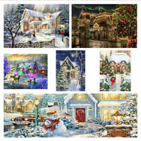 5D DIY Diamond Painting Full Drill Embroidery Kit Christmas Snow Scene Picture