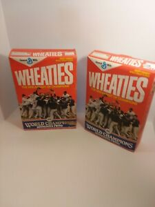 1987 MINNESOTA TWINS WORLD SERIES CHAMPIONS ORIGINAL WHEATIES BOX full & Sealed