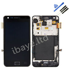 New LCD SCREEN FOR SAMSUNG i9100 GALAXY S2 DIGITIZER & FRAME TOUCH BLACK