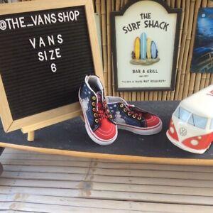 Vans Disney Tim Burton's Nightmare Before Christmas X-Mas Sneakers Toddler 6