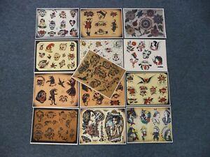 13 - 8 1/2 x 11 Tattoo Flash Sheets