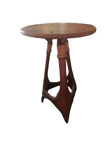 Mid Century Modern Pacific Green Rocket Table Tiki Palm Wood