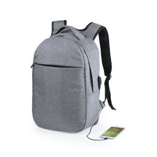 Anti-theft Mens USB with Charger Port Backpack Travel Padded Laptop Bag RFID UK