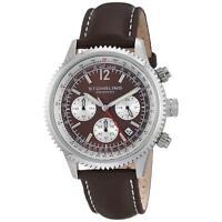 Stuhrling Monaco Men's 42mm Chronograph Brown Calfskin krysterna Watch 669.03