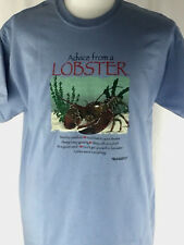 T-shirt Lobster Maine Advice From Unisex Size L Large NWT Gildan Nature Blue