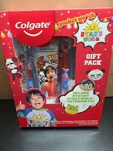 Ryans World Colgate Kids Gift Pack Power Tooth Brush Tooth Paste, Brush Cap NEW