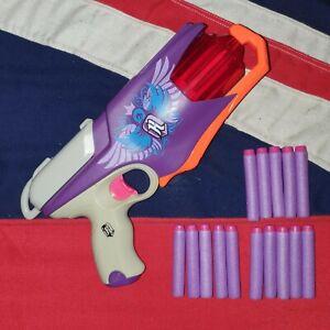 Nerf Rebelle Spylight Blaster Gun 15 Purple Foam Darts BUNDLE JOB LOT Strongarm