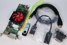 AMD HD 7470 1GB SFF Dual Display DVI VGA DisplayPort HDMI Cable USB Drivers Card