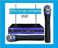 BRAND NEW  PROFESSIONAL DUAL VHF WIRELESS MICROPHONE 50m Range