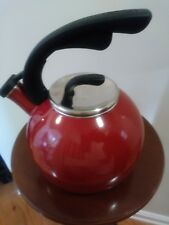 Better Homes and Gardens Whistling Tea Kettle Red - 2 Qt