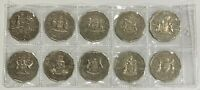 2001 Centenary of Federation COF 50 cent Total of 10 Coins Collection circulated