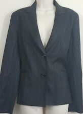 Lafayette 148 Womens size 8 blazer pinstripe wear to work career 100% wool