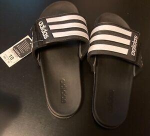 adidas Adilette Men's Shower Slides Mens Size 10 US - Black/White
