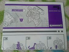 Transformers CYBERTRON BRUSHGUARD INSTRUCTION BOOKLET