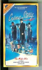 """CRIME STORY Part 2, """"Mafia War"""" TV series on VHS video cassette tape in box"""
