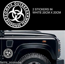 Big Zombie Response Sticker, 4x4, Bumper Zombie Hunters JEEP Land Rover x 2 20cm