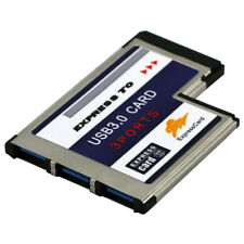 3 Ports USB 3.0 to Expresscard 54mm Adapter Converter for PCMCIA Express Card