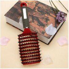 Durable head hair comb massage scalp detangle hairbrush nylon brushes tool red