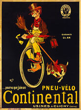 Print Poster Vintage Advert continental bikes Classic Canvas Framed