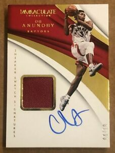 2017-18 Immaculate OG Anunoby Sneaker Swatch Signatures AUTOGRAPH SHOE RC #4/10