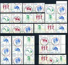 DDR - Olympische Spiele Tokio 1964  12 Zusammendrucke_ZD_1039-1044** )