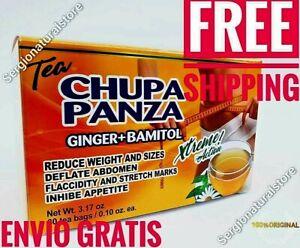 TE DE CHUPA PANZA TEA Jegibre + Bamitol 30 Bags (Accion Xtreme) Free Shipping