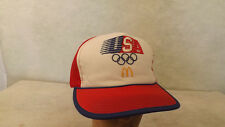VTG 1984 USA Los Angeles Olympic Games McDonald's Mesh Snapback Hat/Cap Unworn