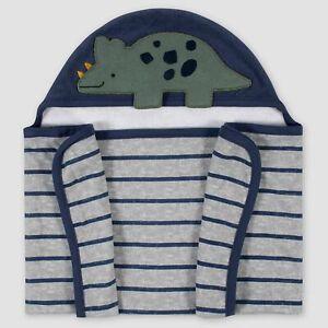 Gerber Baby Dino Hooded Bath Towel Wrap