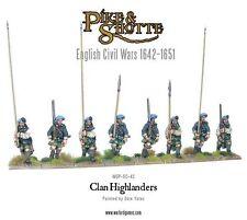 Warlord Pike & Shotte - Regular Highlanders (8) 28mm ECW Clan Covenanters