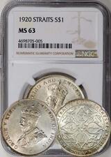 Straits Settlements 1920 Dollar NGC MS-63. Luster!