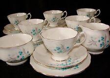 Royal albert bleu ciel 1950s/60s vintage thé set (malvern forme)