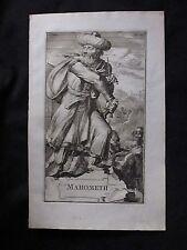 MAHOMETH authentique gravure de 1701 de Romeyn de Hooghe