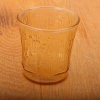 Vintage Indiana Glass Company Amber Rectangles Tumbler Glass