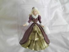 1996 Hallmark Holiday Barbie Collector's Series Ornament Burgundy & Gold