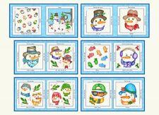 Flaky Friends Winter Christmas Snowman Panel cotton quilt fabric Blank BK Blocks