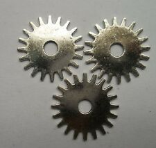 15pcs Tibetan silver wheel gear charms Spacer bead 25 mm