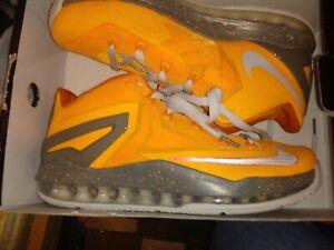 Nike air Max Lebron XI 8.5  low orange and granite mens sneakers nib