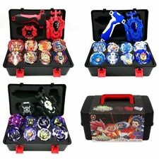 8Pcs Gyro Beyblade Burst Set w/ Grip Launcher+ Portable Storage Box Case Top Toy