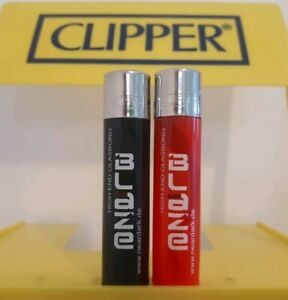 Clipper Lighters x2 Rare Cool Blaze Red Black High End Glass New Smoke Gift