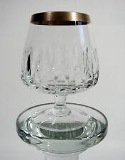 Kristallglas Cognacglas Schwenker Kerbschliff mit Goldrand Vintage