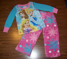 Girls PRINCESS 2-Pc Pajamas - Size 6 - NEW NWT MSRP $35 - PINK & BLUE