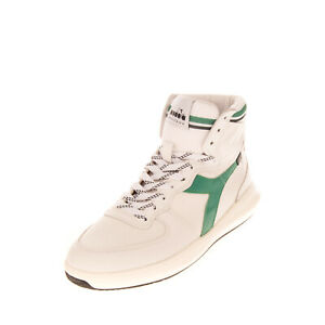 RRP €170 DIADORA HERITAGE Leather Sneakers Size 42 UK 8 US 9.5 Made in Portugal