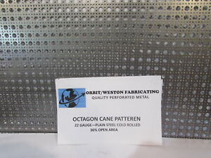 """QUALITY PERFORATED DECORATIVE METAL---OCTAGON CANE PATTERN-- 24"""" X 24"""""""