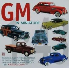 BOOK/LIVRE GENERAL MOTORS/GM MINIATURE 1/43 CAR/VOITURE
