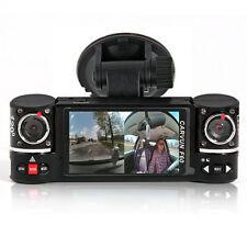 "NEW! 2.7"" TFT LCD DashCam Dual Camera Rotated Lens Car DVR Recorder AKA BlackBox"