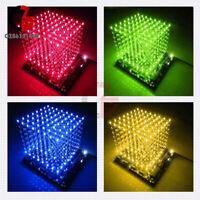 3D LED LightSquared DIY Kit 8x8x8 LED Cube Light Squared Red/Green/Blue/Yellow