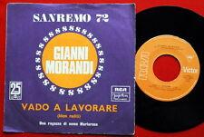 """GIANNI MORANDI VADO A LAVORARE SANREMO 1972 RARE EXYUGO 7"""" PS  N/MINT"""