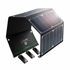 Solar Charger 24W with Triple USB Ports Efficient Lightweight and Waterproof