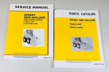 Set New Holland L445 Skid Steer Loader Service Parts Manuals Shop Repair Catalog